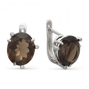 Серьги из серебра 925 пробы с полудрагоценными камнями арт. 23-14-060