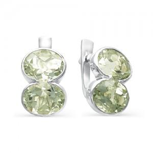 Серьги из серебра 925 пробы с полудрагоценными камнями арт. 23-17-220