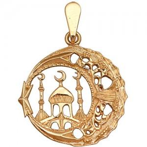 Подвеска из красного золота 585 пробы арт. 300-1-375