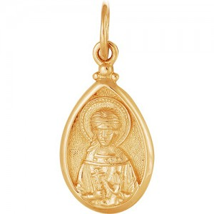Подвеска из красного золота 585 пробы арт. 300-1-516