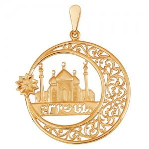 Подвеска из красного золота 585 пробы арт. 300-1-552