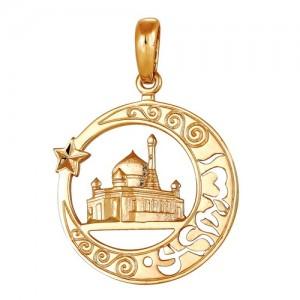Подвеска из красного золота 585 пробы арт. 300-1-582