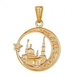 Подвеска из красного золота 585 пробы арт. 300-1-602