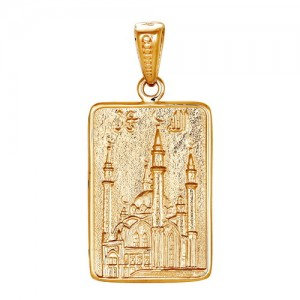 Подвеска из красного золота 585 пробы арт. 300-1-603