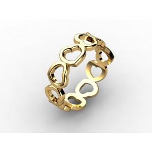 Обручальное кольцо из золота 585 пробы арт. 300-016