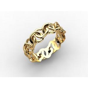 Обручальное кольцо из золота 585 пробы арт. 300-018