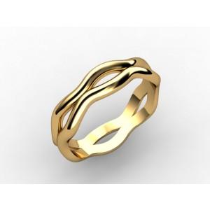Обручальное кольцо из золота 585 пробы арт. 300-019