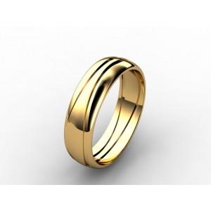 Обручальное кольцо из золота 585 пробы арт. 300-022