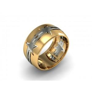Обручальное кольцо из золота 585 пробы арт. 300-025