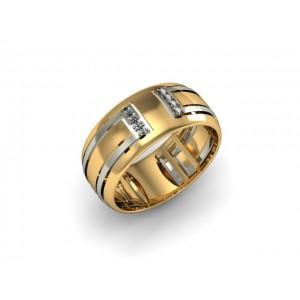 Обручальное кольцо из золота 585 пробы арт. 300-027