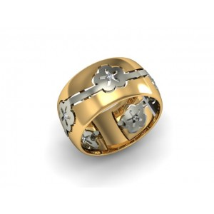 Обручальное кольцо из золота 585 пробы арт. 300-028