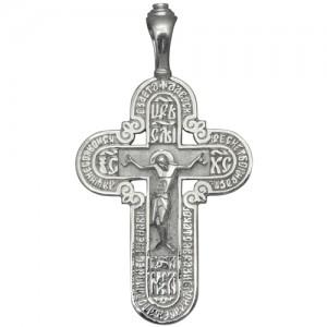 Крест мужской из серебра 925 пробы арт. 300-5-274