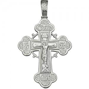 Крест мужской из серебра 925 пробы арт. 300-5-330