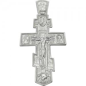 Крест мужской из серебра 925 пробы арт. 300-5-343