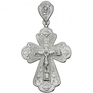 Крест мужской из серебра 925 пробы арт. 300-5-344