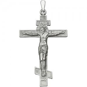 Крест мужской из серебра 925 пробы арт. 300-5-350