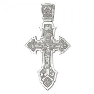 Крест мужской из серебра 925 пробы арт. 300-5-478