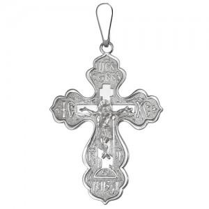 Крест мужской из серебра 925 пробы арт. 300-5-481