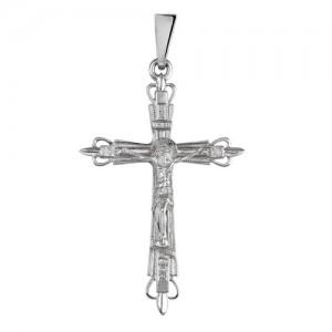 Крест мужской из серебра 925 пробы арт. 300-5-486