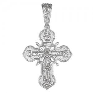 Крест мужской из серебра 925 пробы арт. 300-5-491