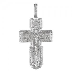 Крест мужской из серебра 925 пробы арт. 300-5-493