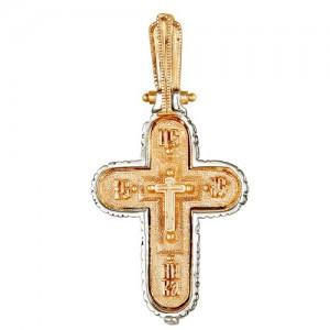 Крест из красного и белого золота 585 пробы арт. 308-1-450