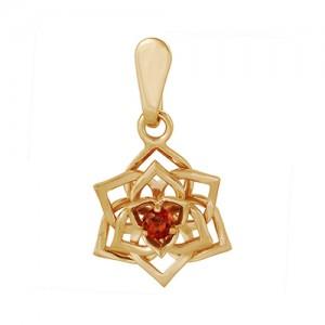 Подвеска из красного золота 585 пробы с полудрагоценными камнями арт. 31-11-261
