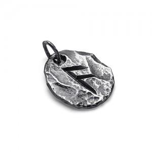 """Подвеска с руной верховного божества """"Ансуз"""" из серебра 925"""