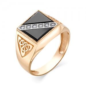 Мужское кольцо из золота 585 пробы арт. 91-02-551