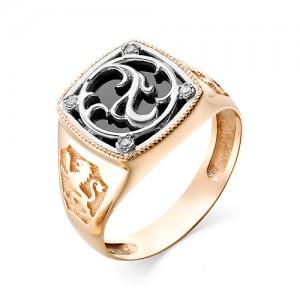 Мужское кольцо из золота 585 пробы арт. 91-02-553
