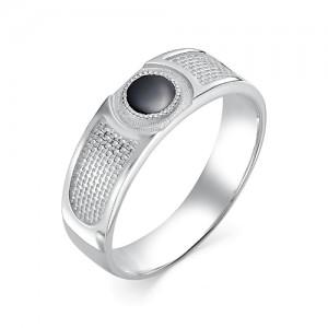 Мужское кольцо из серебра 925 пробы с фианитами арт. 93-02-144