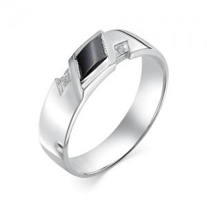 Мужское кольцо из серебра 925 пробы с фианитами арт. 93-02-145