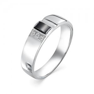 Мужское кольцо из серебра 925 пробы с фианитами арт. 93-02-147