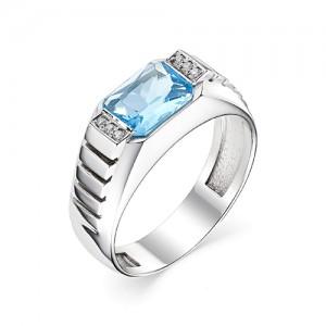 Перстень из серебра 925 пробы с кварцем арт. 93-02-204