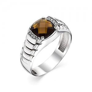 Перстень из серебра 925 пробы с кварцем арт. 93-02-210