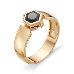 Перстень мужской из красного золота 585 пробы арт. 91-004