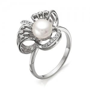 Кольцо из серебра 925 пробы с жемчугом арт. К-0015