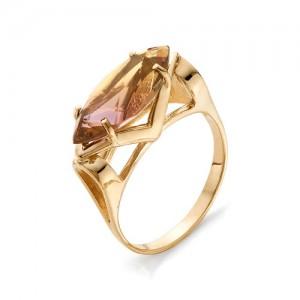 Кольцо из красного золота 585 пробы с аметрином арт. К-1027