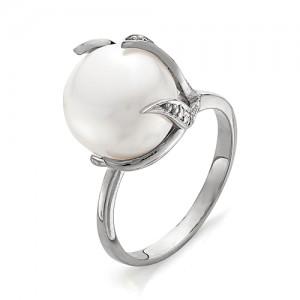 Кольцо из серебра 925 пробы с жемчугом арт. К-0037