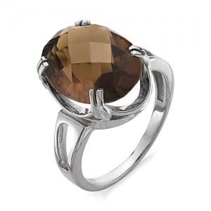 Кольцо из серебра 925 пробы с раухтопазом арт. К-0038