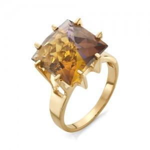 Кольцо из красного золота 585 пробы с аметрином арт.К-1039
