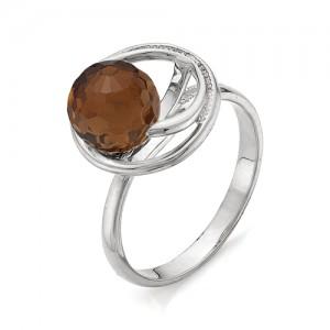 Кольцо из серебра 925 пробы с раухтопазом арт. К-0043А