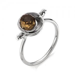 Кольцо из серебра 925 пробы с раухтопазом арт. К-0047А