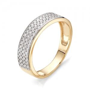 Кольцо из красного золота 585 пробы с фианитами арт.К-1065_3