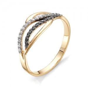 Кольцо из красного золота 585 пробы с фианитами арт.К-1066А_2