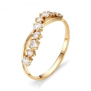 Кольцо из красного золота 585 пробы с фианитами арт.К-1067_1
