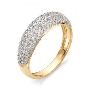 Кольцо из красного золота 585 пробы с фианитами арт.К-1068_5