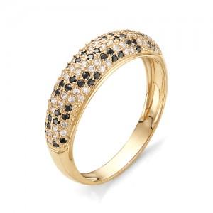 Кольцо из красного золота 585 пробы с фианитами арт. К-1068А_5