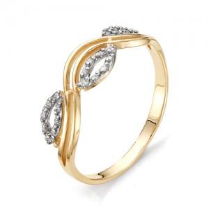 Кольцо из красного золота 585 пробы с фианитами арт.К-1072_2