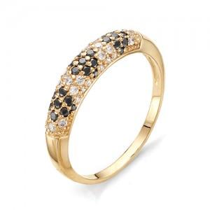 Кольцо из красного золота 585 пробы с фианитами арт.К-1073А_4